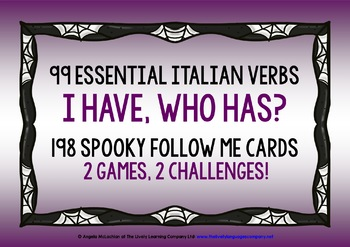 ITALIAN VERBS (1) - HALLOWEEN I HAVE, WHO HAS? 2 GAMES, 2