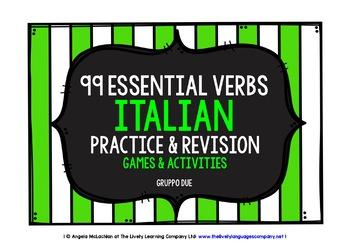 ITALIAN VERBS (2) - PRACTICE & REVISION - 99 VERBS