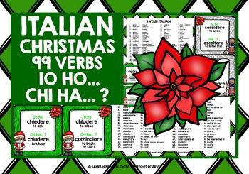 ITALIAN VERBS CHRISTMAS I HAVE WHO HAS?