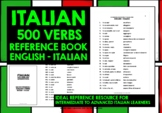 ITALIAN VERBS REFERENCE BOOK 500 VERBS ENGLISH-ITALIAN
