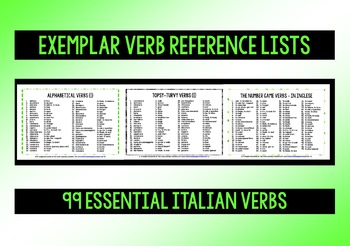 ITALIAN VERBS (1) - PRACTICE & REVISION - 3 DIFFERENTIATED DOMINOES GAMES