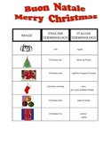 ITALIAN _ Christmas Vocabulary and Key