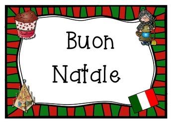 ITALIAN  merry christmas poster BUON NATALE