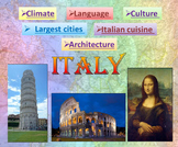 Italy PowerPoint Presentation Quiz distance learning