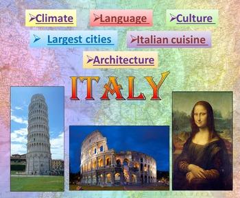 Italy : PowerPoint Presentation - Quiz, Art, Culture, Sigh