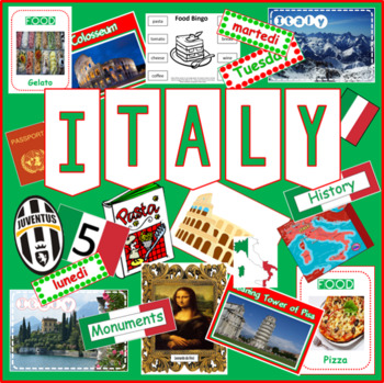 ITALY AND ITALIAN LANGUAGE- MULTICULTURAL DIVERSITY RESOURCES DISPLAY GEOGRAPHY
