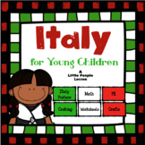 ITALY FOR YOUNG CHILDREN: Numbers, Crafts, Worksheets, Info Posters, Cooking, PE
