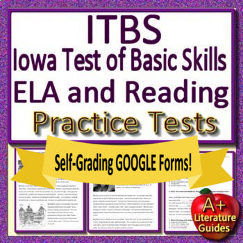 ITBS (Iowa Test of Basic Skills) Test Prep for Reading and Writing Grades 5 - 8