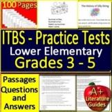 ITBS Test Prep Reading Practice Assessments - Grades 3 - 5  Iowa Basic Skills