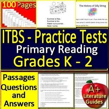ITBS Test Prep Primary Reading Practice Tests Grades K 2