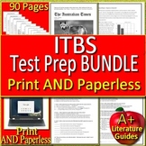 ITBS Test Prep Bundle - ELA and Reading Practice Tests Grades 6, 7 & 8