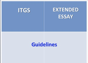 ITGS Extended Essay Guideline