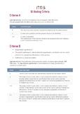 ITGS Internal Assessment project checklist