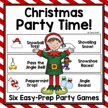 Christmas Party Games!  Six Easy-Prep Games!