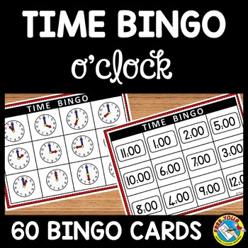 TIME GAME: TIME BINGO TO THE HOUR + TIME MATCHING GAME: TI