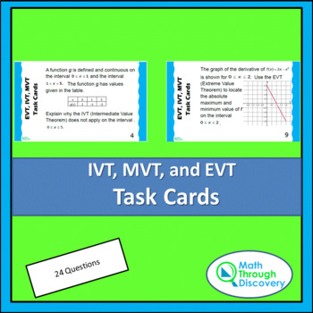 IVT, EVT, and MVT Task Cards