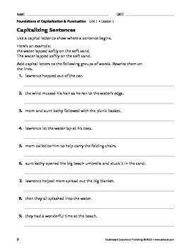 Capitalization Basics - Capitalization & Punctuation Unit 1 (Gr 4-8)