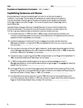 Capitalization Overview - Capitalization & Punctuation Unit 1 (Gr 9-12)