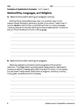 Tricker Capitalization - Capitalization & Punctuation Unit 2 (Gr 4-8)