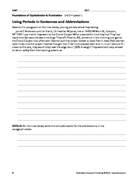 End Marks and Apostrophes - Capitalization & Punctuation Unit 3 (Gr 9-12)