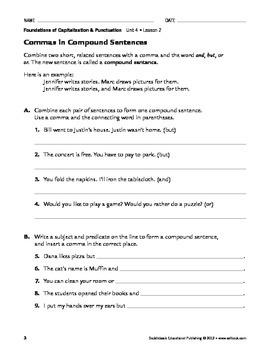 Commas - Capitalization & Punctuation Unit 4 (Gr 4-8)