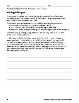Quotation Marks & Other Punctuation-Capitalization & Punctuation Unit 5(Gr 4-8)