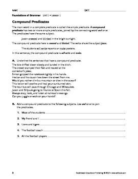 Sentence Parts and Types - Grammar & Usage Unit 1 (Gr 9-12)
