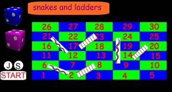 IWB Snakes and Ladders Counting Game
