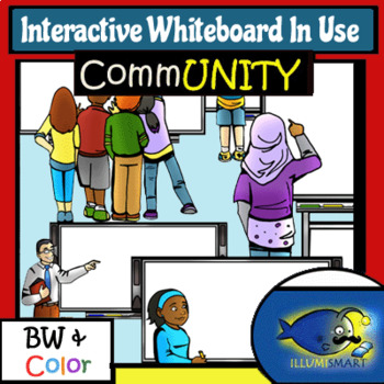IWB Students Writing on White Boards! 46 Pc. BW/Color!