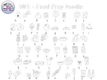 IWE - Food Prep Doodle Font