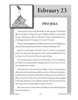 IWO JIMA (FEBRUARY 23)