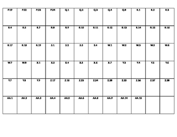 IXL 6th Grade Common Core Standards Tracking Sheet