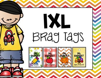 IXL Brag Tags: Entire School Year