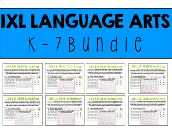 IXL Language Arts Data Tracking K-7 Bundle