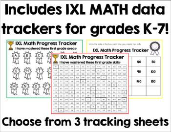 IXL Math Data Tracking K-5 Bundle #BTSBlackFriday