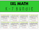 IXL Math Data Tracking K-5 Bundle
