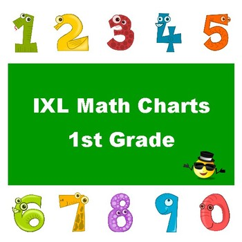 IXL Math Progress Charts for 1st Grade