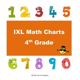 IXL Math Progress Charts for 4th Grade