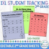 IXL Math Student Tracking Sheets 2nd Grade