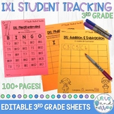 IXL Math Student Tracking Sheets 3rd Grade