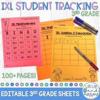 IXL Math Student Tracking Sheets 3rd Grade