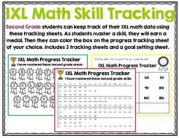 Second Grade IXL Math Tracking