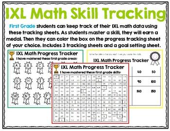 First Grade IXL Math Tracking