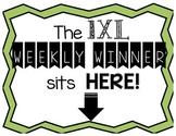 IXL Math Weekly Winner Award Poster