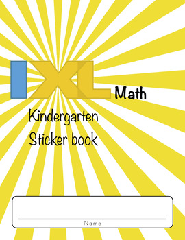 IXL Sticker Book (Kindergarten Math)