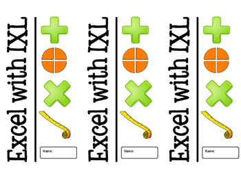 IXL Third Grade Math Progress Booklet