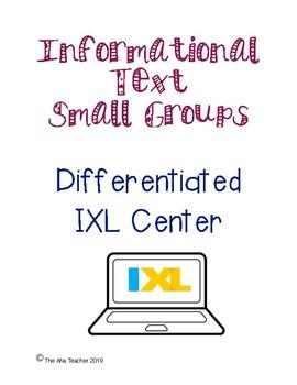 IXL center: Informational text