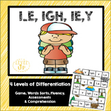 I_E, IGH, IE, Y Phonics Game and Word Sort