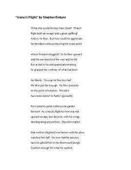 i icarus poem