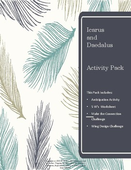 Icarus and Daedalus Activity Pack